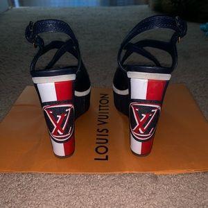 Louis Vuitton postcard sandals Wedges US8.5 EU39